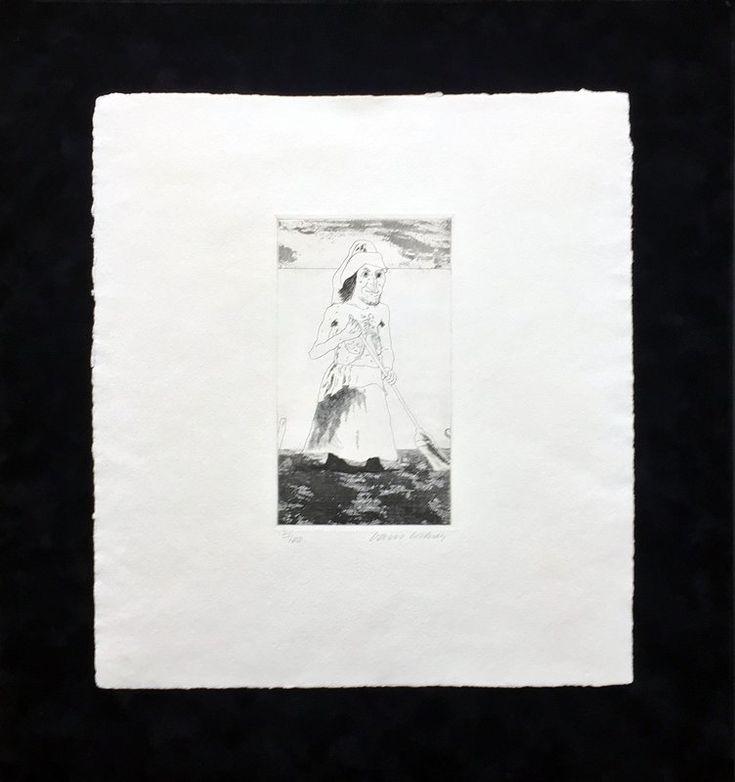 David Hockney, The Enchantress in her garden