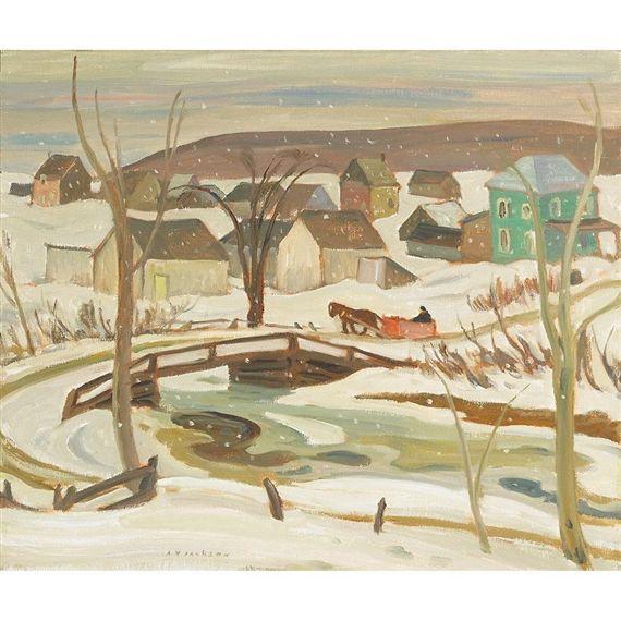 A.Y. Jackson - Ste-Cecile de Masham Quebec 20.6 x 24.6 Oil on canvas