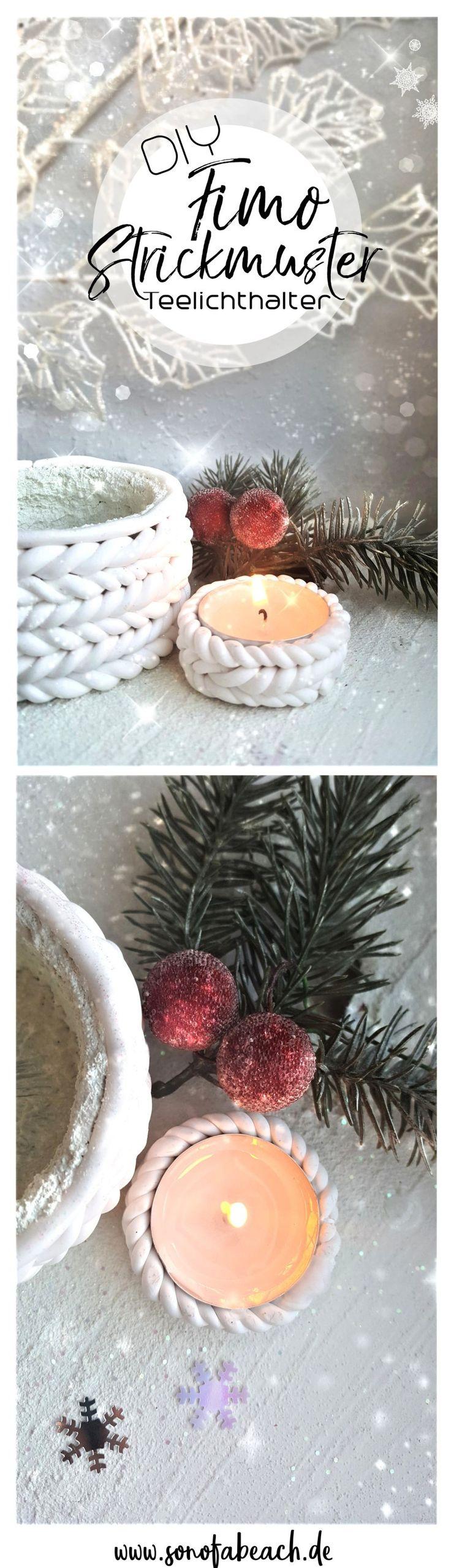 In dieser Fimo DIY Anleitung zeige ich euch, wie ihr ganz einfach einen Kerzenhalter selber machen könnt. Dazu braucht ihr nur Fimo und ein Glas und schon könnt ihr eure eigene Weihnachtsdeko  basteln. Die Teelichthalter eignen sich auch super als kleines Geschenk oder einfach als Deko Element im Winter oder Herbst, auch wenn gerade kein Weihnachten ist. #christmas #decoration #weihnachten #diy #homedecor #basteln #weihnachtsdeko #crafts