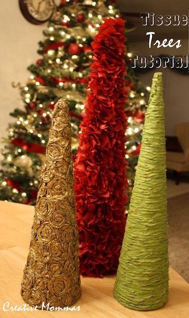 DIY Tutorial - Decorative Tissue Trees