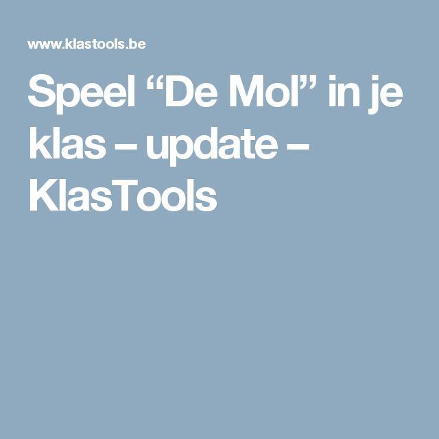 """Speel """"De Mol"""" in je klas – update – KlasTools"""