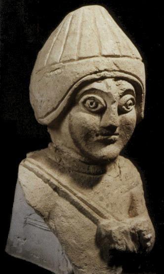 Umayyad Stucco Statuette, Khirbat al Mafjar, Palestine, mid-8th century AD