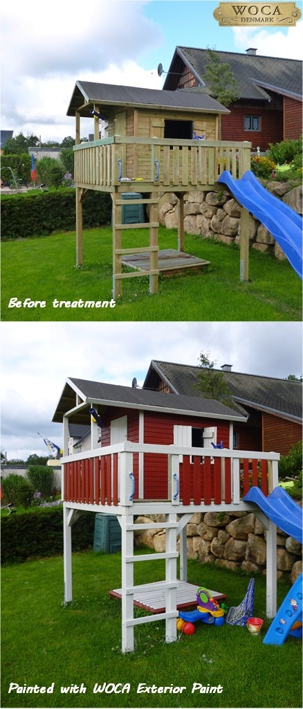 Elevated Playhouse-- if the footprint is to big, we could add a wrap-around porch.