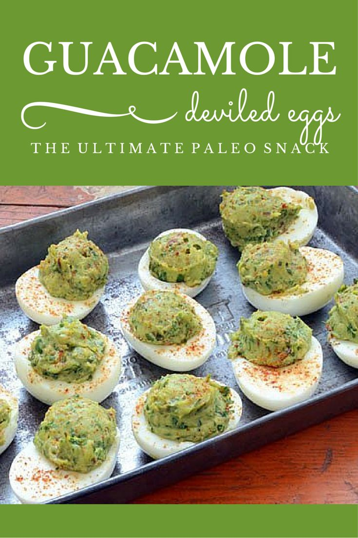 Guacamole Deviled Eggs are a huge hit in our house. The boys and their friends love this healthy after school snack. I love that it's an easy paleo snack that's high protein, full of healthy fat, and made with only 8 ingredients.