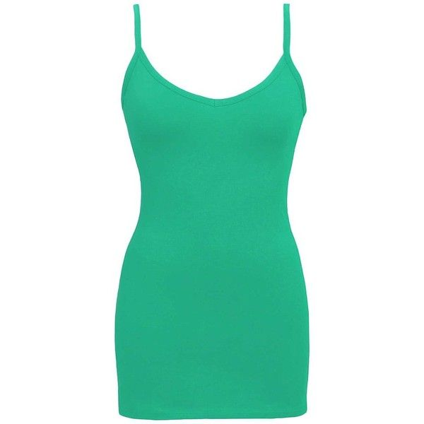 BKE Extra Long & Lean Tank Top - Green X-Small ($6.30) ❤ liked on Polyvore featuring tops, green, low top, extra-long tank tops, bke tank tops, cotton tank and extra long tank tops