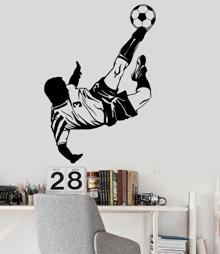 Vinyl Wall Decal Soccer Player Boy Room Sports Stickers Mural (ig3887)