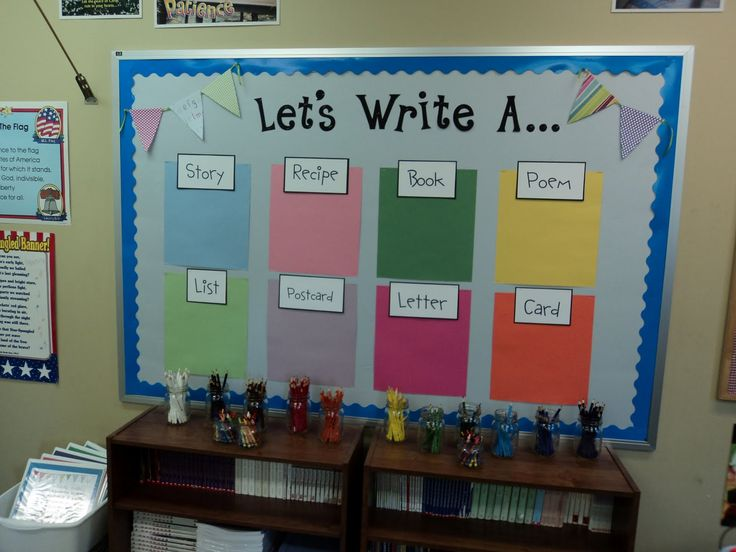 I love the look of this writing area. It looks so fresh and organized!