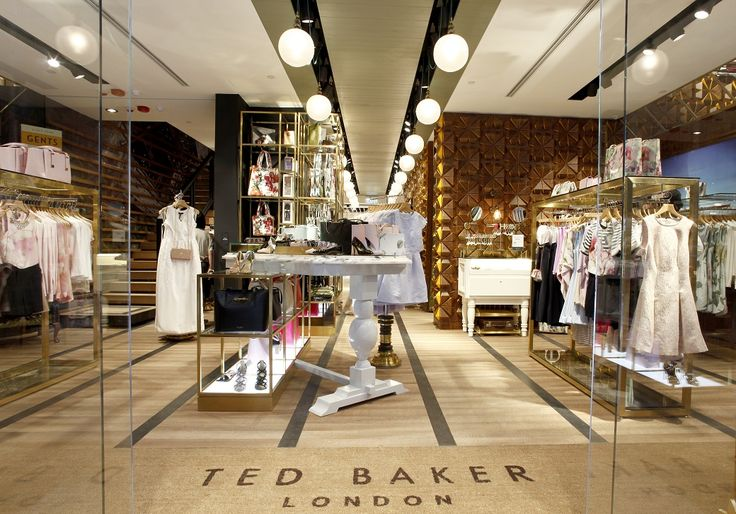 Ted Baker store, blown pearl glass shades by Rothschild & Bickers