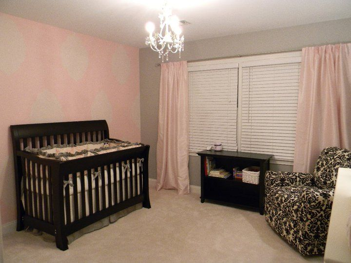 pink and gray shabby chic nursery baby girls shabby. Black Bedroom Furniture Sets. Home Design Ideas