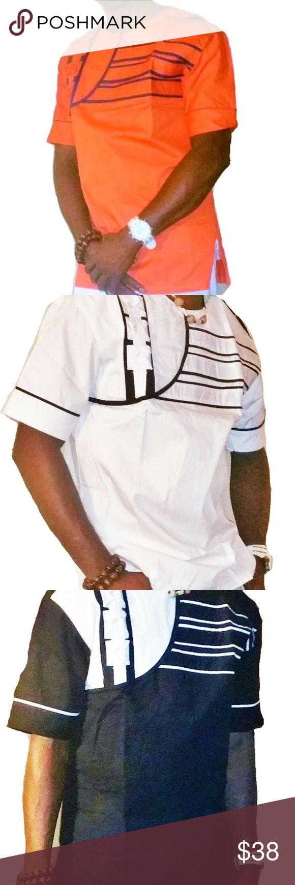 African mens clothing dashiki This is a classic Men's short Sleeve African Traditional clothing finely and neatly sewn and it's made with high quality fabric. It has a perfect finish and it is ideal for any special occasion be it wedding ceremony, church service, party, outdooring etc.This costume can also be a perfect gift option to a love one. African clothing dashiki Shirts Casual Button Down Shirts