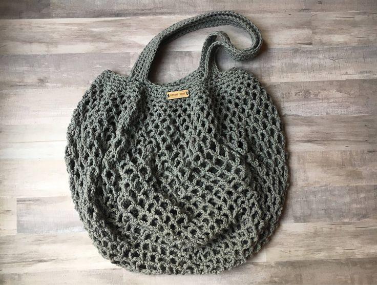 Market Bag in Gray - summer beach bag - crochet beach bag - eco-friendly bag - reusable bag - crochet shoulder bag - farmers market by RovingRoseHandmade on Etsy https://www.etsy.com/uk/listing/534880000/market-bag-in-gray-summer-beach-bag