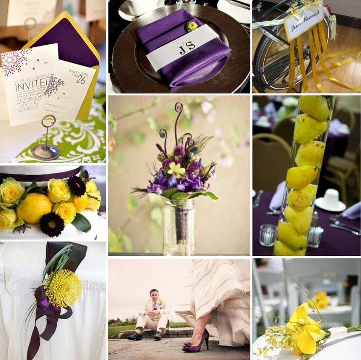 inspiration boards weddings purple and moon yellow wedding bright future and the purple. Black Bedroom Furniture Sets. Home Design Ideas