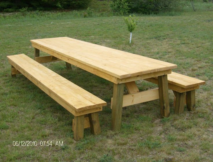 17 best ideas about picnic table plans on pinterest for 8 picnic table plans