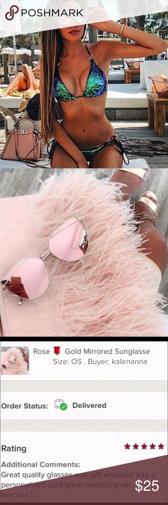 🌹 Gorgeous Rose Gold Mirrored Sunglasses 🌹 Gorgeous Rose Gold Mirrored Sunglasses. Cat Eye Aviator.                                                                                      ❤️Brand New (comes in original packaging) ❤️Material: Metal and Glass! Very high Quality!                                                                                     ❤️Color: Pink and gold ❤️Top Seller and Always ⭐️⭐️⭐️⭐️⭐️ item! Accessories Sunglasses