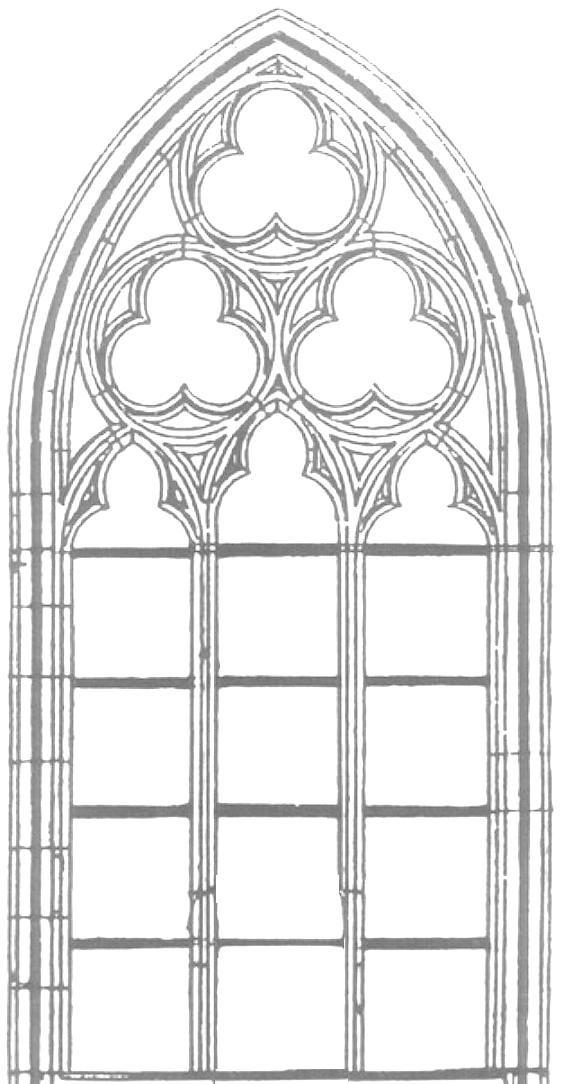Kirchenfenster Gotik Malvorlage   Ausmalbilder