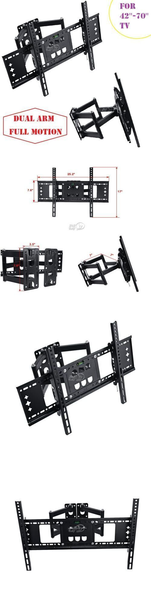 TV Mounts and Brackets: Full Motion Tv Wall Mount Bracket For 42 46 50 55 60 65 70 Inches Lcd Led Tvs BUY IT NOW ONLY: $34.39