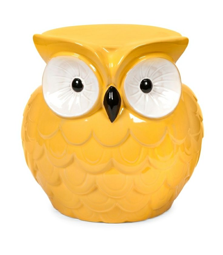 Home Decor Unique Home Decor - Whimsical Hoot Owl Yellow Ceramic Garden Stool  sc 1 st  Pinterest & 22 best Owls images on Pinterest | For the home Owls decor and ... islam-shia.org