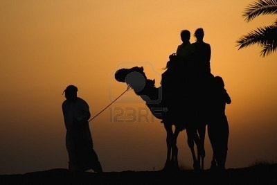 An afternoon camel riding in Dubai