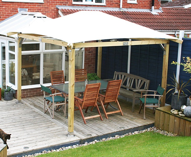 64 best images about decking and hot tub ideas on pinterest for Garden decking with gazebo