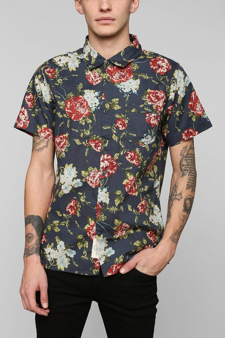Native Youth Full Bloom Button-Down Shirt