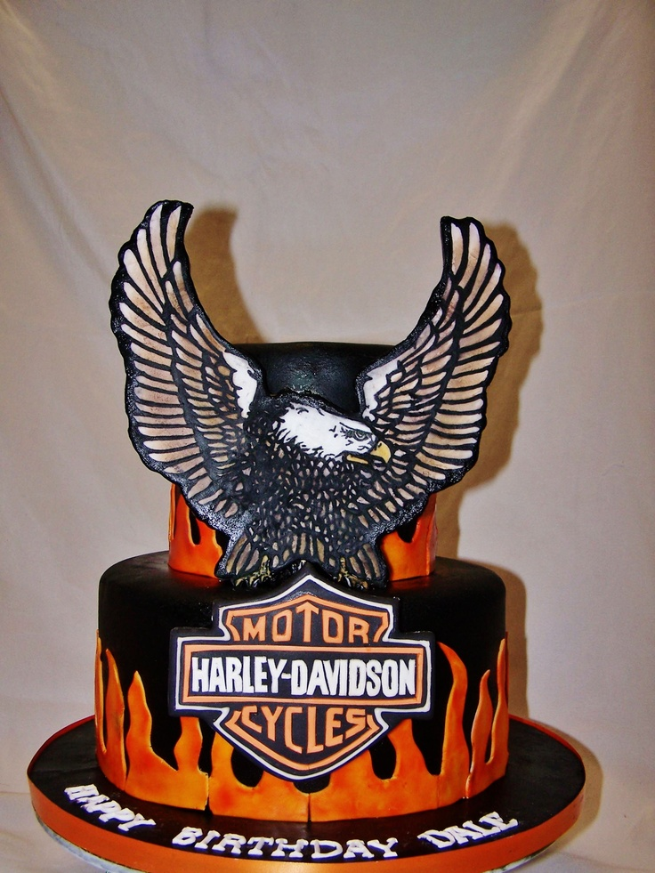 113 Best Images About Harley Davidson Cakes On Pinterest