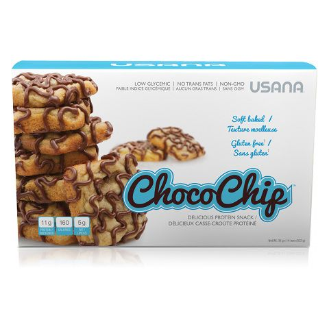 USANA Choco Chip ™ is a protein snack of chocolate chip that please you as much as homemade goodies, while giving you the benefits and ensuring sustainable energy.