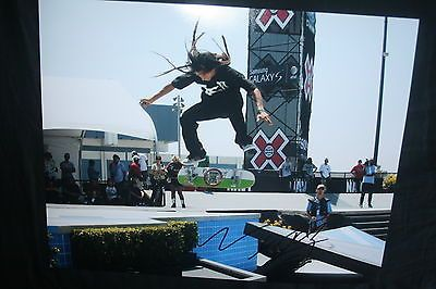 NYJAH HUSTON SIGNED 11x14 inch photo DC/COA/HOLO (PROOF) X GAMES SLS