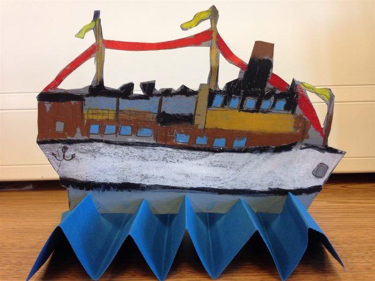 Boot op de golven