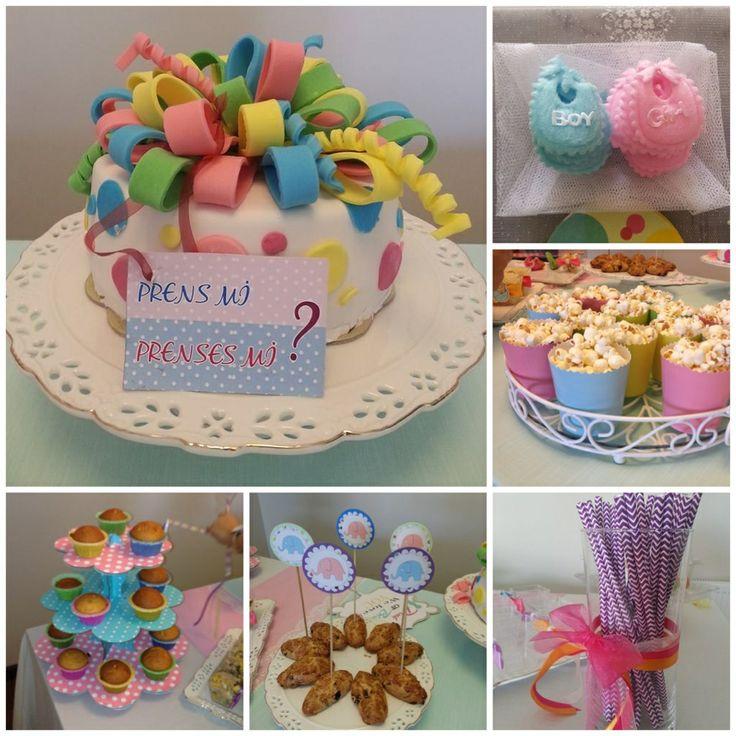 Gender party idea, baby cake