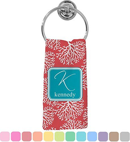 24 Lovely Beach Themed Hand Towels That Feature Beach, Coastal, Nautical, and Tropical Elements like Starfish, Seashells, Anchors, Palm Trees, and More.