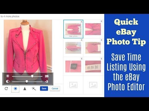 Quick eBay Photo Tip - Save time Listing Using the FREE eBay Photo Editor - YouTube