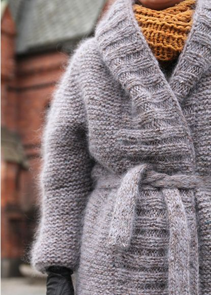 knit coat... I love big, thick warm sweaters! This one looks like heaven to…