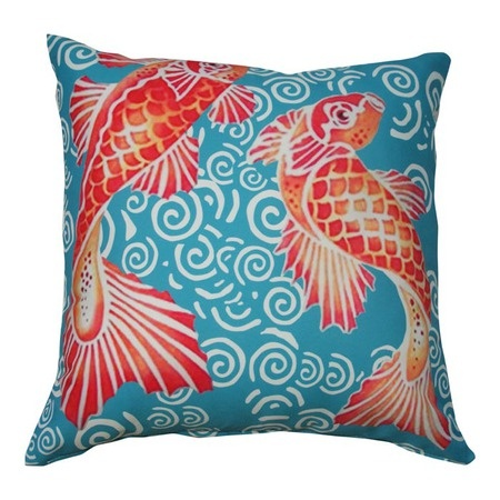 17 best images about home on pinterest coral pillows for Koi fish pillow