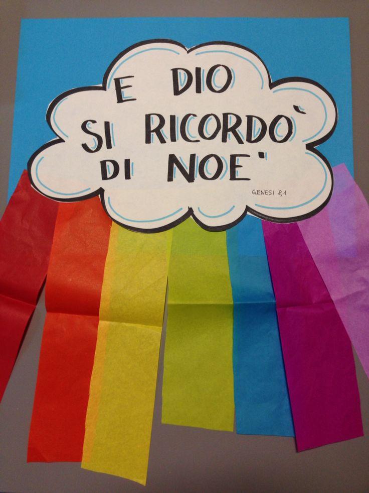 Lavoretto su Noè e l'arcobaleno...