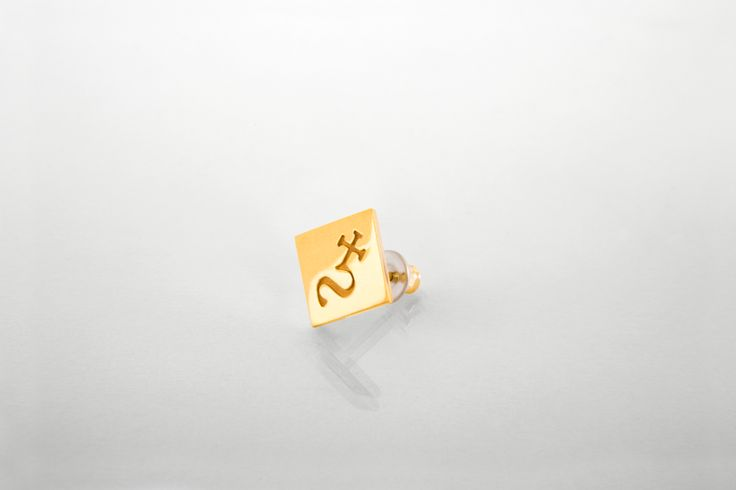 earring // Silver gold plated #Melancholia #Jewel #Jewellry #earring #gold