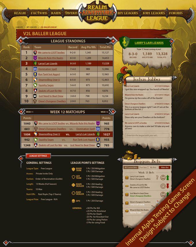 League screen from http://realmadventureleague.com