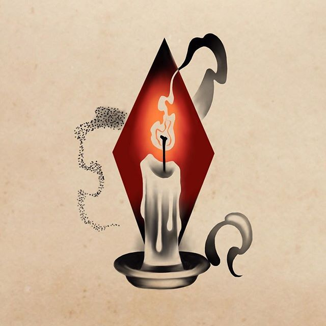 ✨✨I think this is my favorite one. What do you guys think? #candle #tattoo #Halloween #NYC