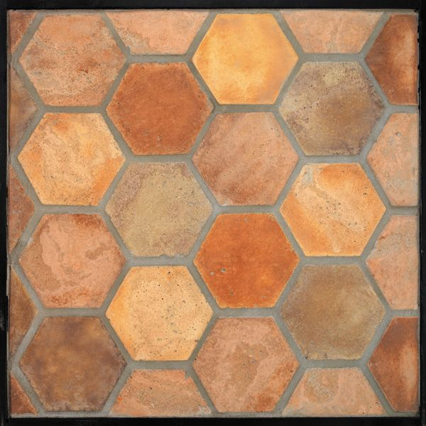 6'' Hexagon NormandyCream(signature series)Laticrete 24 Natural Gray Grout Available thru Northwest Building Supply