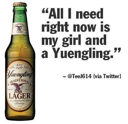 This guy knows what he wants. #Yuengling #GoodGuy #Priorties