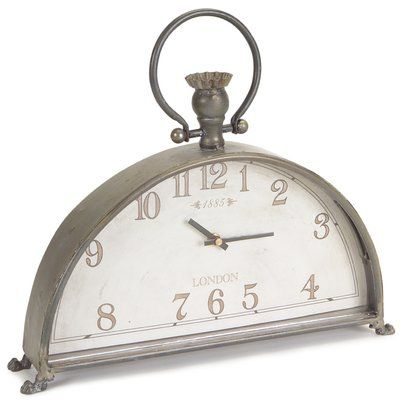 The Victoria Station Square Tabletop Clock warms any table with an antiqued white finish. Displays beautifully on a raised decorative base (attached). The Crafted Home group includes an eclectic, everyday collection of core décor accessories partnered with a fashionable color pallet. The pieces designed and selected compliment all collections in the line.