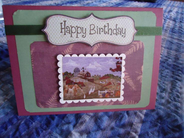 Brothers birthday card,  he's a farmer so I used a farm scene