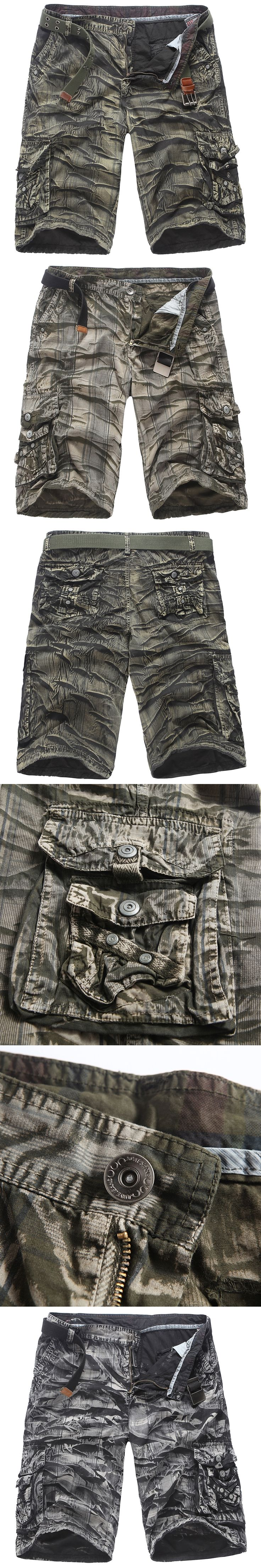 Summer Men Cargo Shorts 2017 New Brand New Army Camouflage Military Shorts Men Cotton Loose Work Casual Short Pants Plus Size