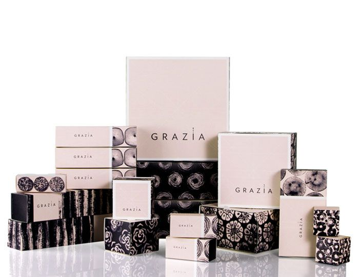 """p576, created branding and packaging for Grazia,an eatery in Bogota, Colombia """"Grazia is a place that offers delicacies of salt and sweet and a brand that seeks to share the taste of Claudia and Raphael for aesthetics."""