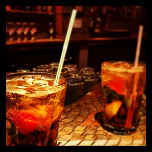 We all love Pimms o'clock! Pimms No1 with lemonade, ginger ale, fresh mint, cucumber & summer fruits!