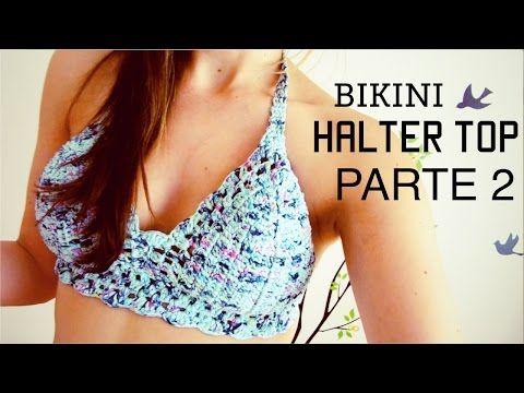 bikini / halter top a crochet (ENGLISH SUBTITLES!) paso a paso - Parte 2 de 2 - YouTube