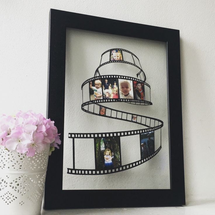 A personal favourite from my Etsy shop https://www.etsy.com/uk/listing/464185835/personalised-papercut-photo-reel-family