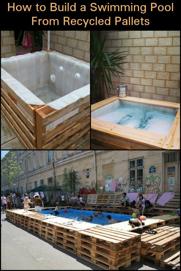 Swimming Pool Aus Paletten Swimming Pool From Recycled Pallets | Interesting Projects