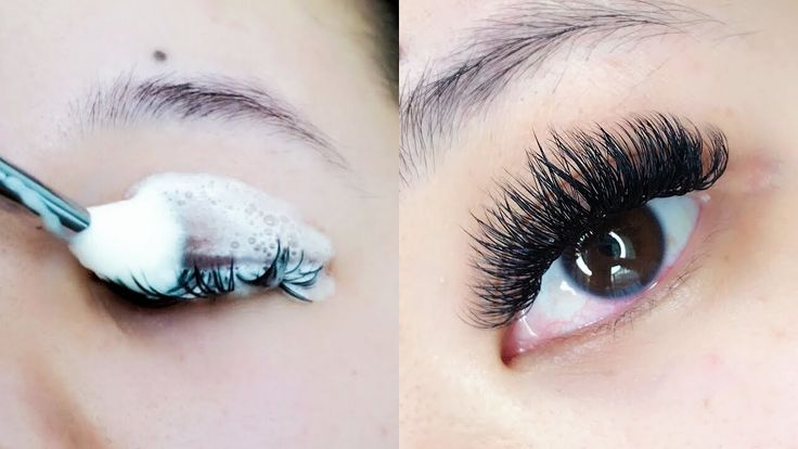 How to clean lash extensions youtube how to clean