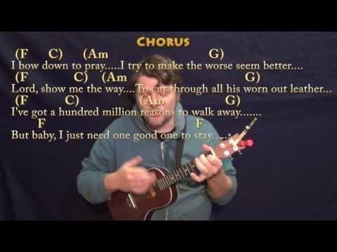 Million Reasons (Lady Gaga) Ukulele Cover Lesson in C with Chords/Lyrics - YouTube