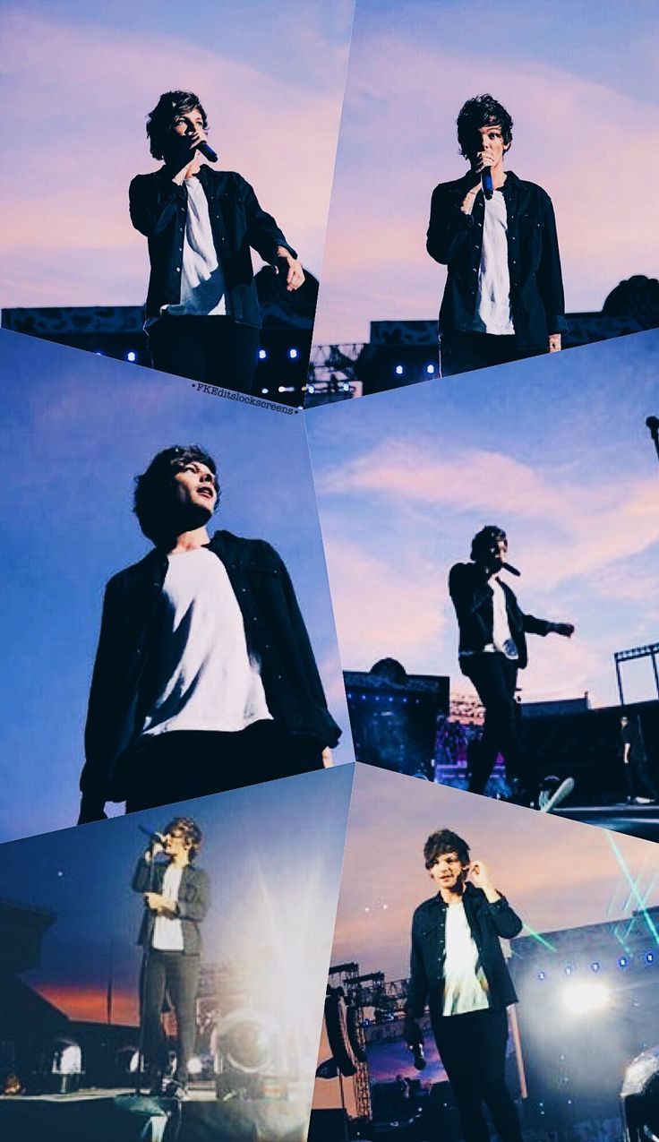 Otra Concert 2015 Lockscreen edit by •FKEditslockscreens• One direction Louis Tomlinson
